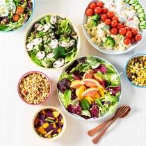 【朝食】色鮮やかなサラダ10種