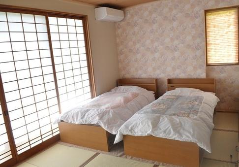【1階 禁煙客室】和室ツインベット(バス・トイレなし)