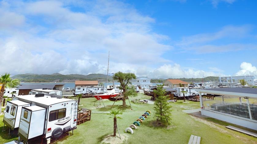 *【全体図】海に囲まれる新しいキャンプスタイルをお楽しみください!