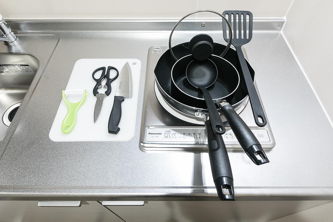全室キッチンを完備しております ご自由にお使い下さい