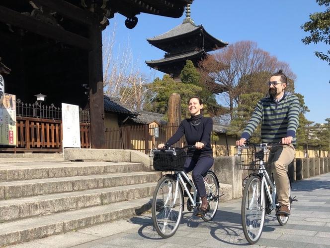 【京都駅徒歩4分・ゲストセンター】レンタルサイクルのサービスがあります