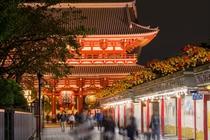 夜の浅草観光イメージです