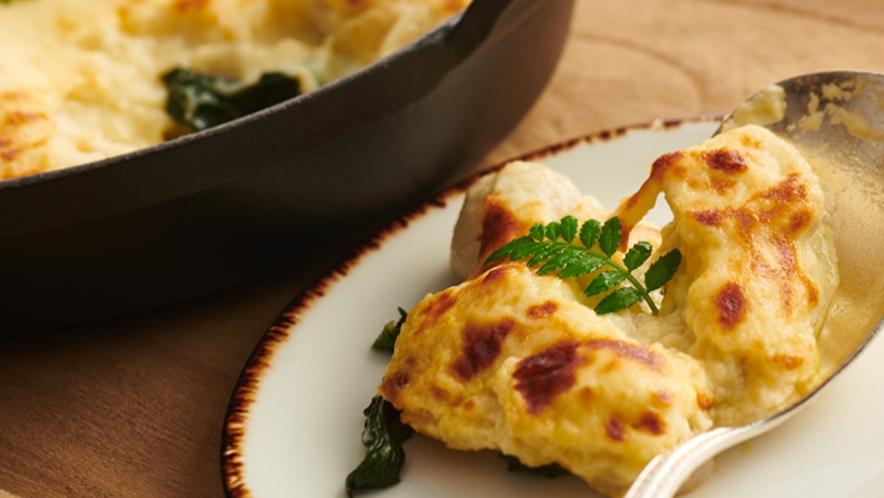 【朝食】生麩と里芋の西京みそグラタン/京都らしさと新しい組み合わせが見つかるメニューです ※イメー