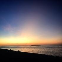 夕方の瀬底ビーチ