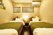 1F ツインベッドのお部屋です