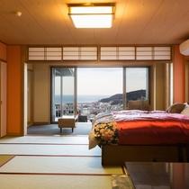 露天風呂付客室「空」ベッドルーム