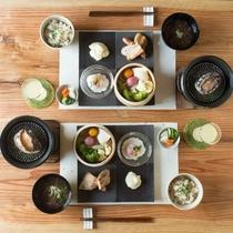 伊豆の海鮮と有機野菜の朝食
