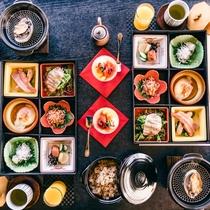 朝食 伊豆の海鮮とぐり茶ごはん
