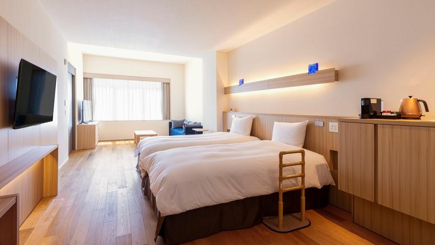【客室】ユニバーサルデザインルーム/42㎡/多くの方が使用しやすいデザインを基本とした造りのお部屋。