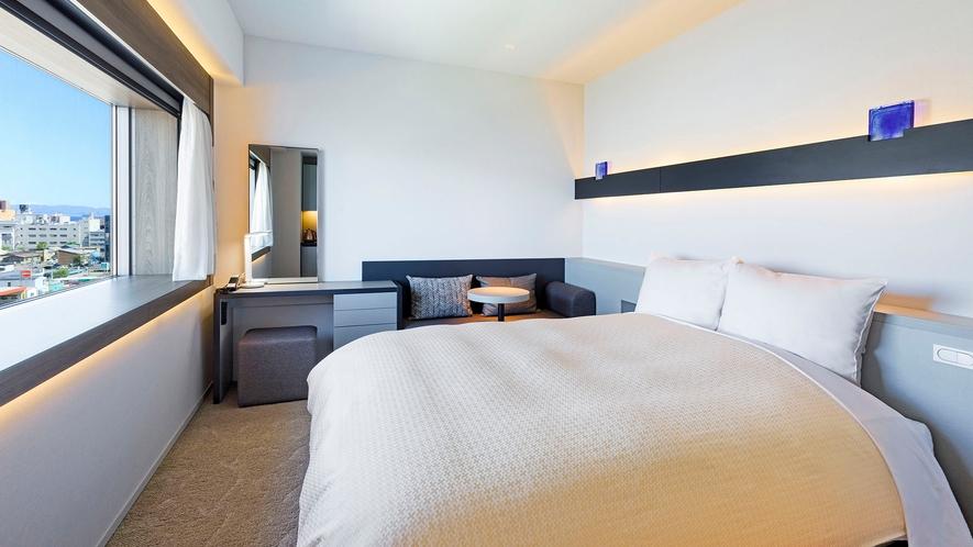 【客室】クイーン/22平米/スタイリッシュな空間で上質なホテルステイを。