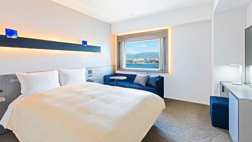 【客室】ダブル/20㎡/スタイリッシュな空間で上質なホテルステイを。