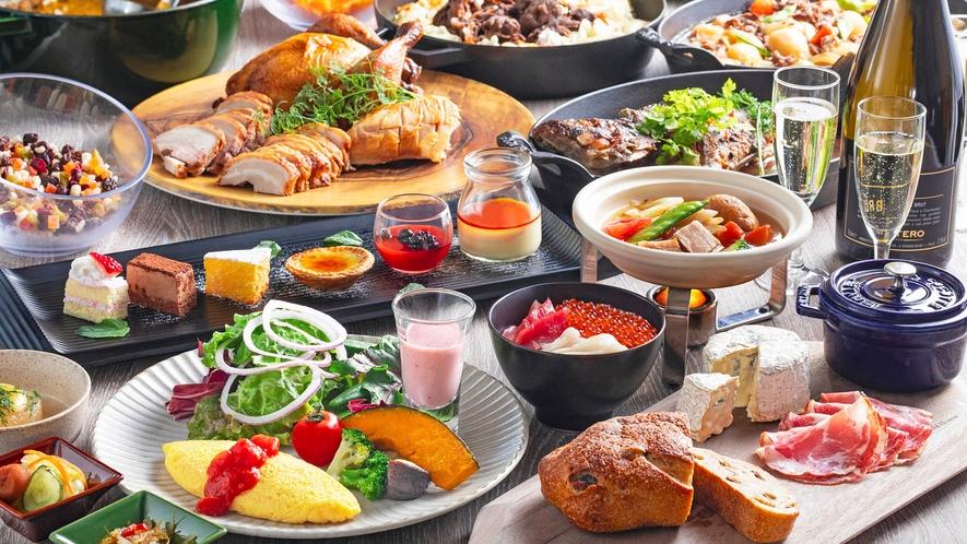 【朝食】厳選された150種類以上の品目の朝食ビュッフェ。心も体も大満足の「体にやさしい朝食」。