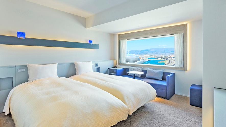 【客室】ツイン/24㎡/スタイリッシュな空間で上質なホテルステイを。