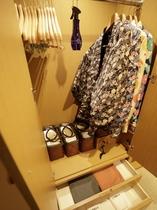 【客室:設備】館内着など予めお部屋にご準備しております。