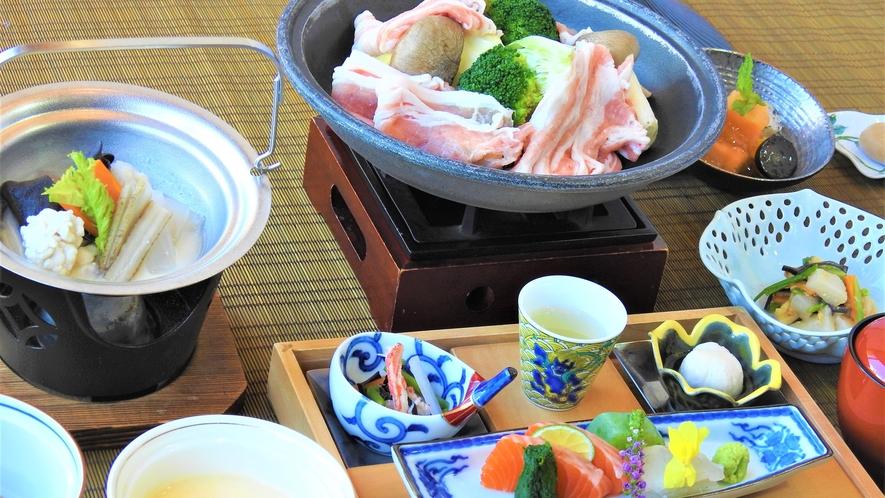 飛騨旨豚三段肉の和食会席