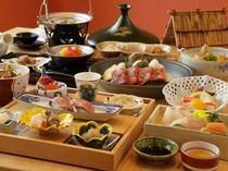 【食事】和食会席 地の食材をふんだんに使用した料理は絶品です。