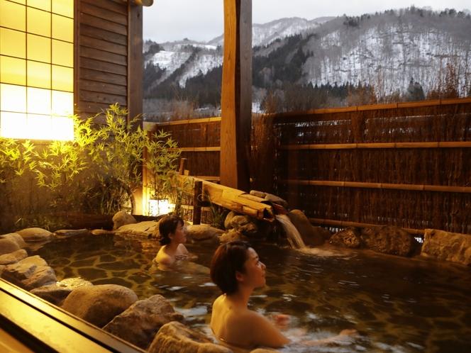 【大浴場:露天風呂】心ゆくまでと温泉をお愉しみ下さい。