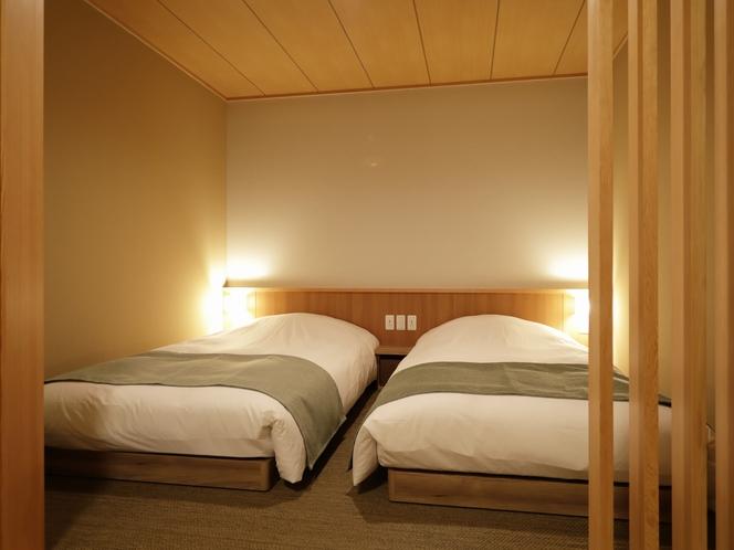 【客室】デラックスツイン◆32.2平米 3名様でお泊まりの際はお布団をご利用ください。