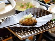 【食事】朝食のメインは「朴葉味噌焼き」