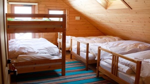 シングル×3、2段ベッド×1 天窓・テラス付き