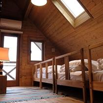 *客室一例/屋根の形状を活かしたお部屋!天窓からは星空を見ることができます☆