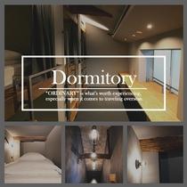 【1名定員:ドミトリー】ベッドスペース、共用シャワーブース、共用トイレ