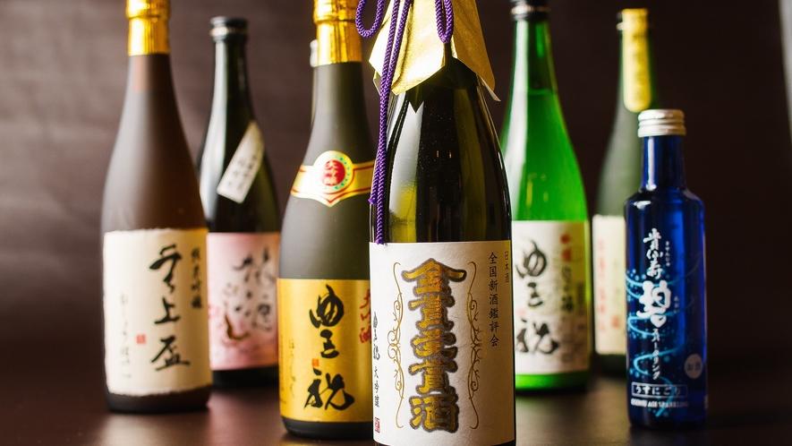 奈良豊澤酒造から直送される季節限定酒やスパークリング日本酒をご用意。