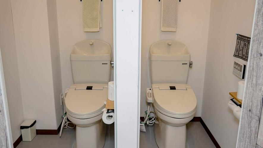 ・各フロアシャワー室2つ、トイレ3つを完備してます