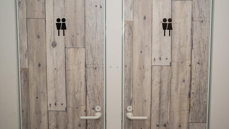 ・トイレは男女共用だが、衛生的なので、女性の使用も安心です