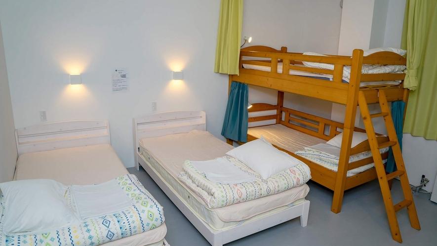 ・<一室貸切ファミリールーム>二段ベッドはお子様に大人気です