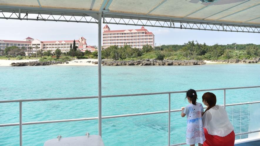 【半潜水式水中観光船「シースカイ博愛」】水深25mの美しい海の世界をお楽しみください。