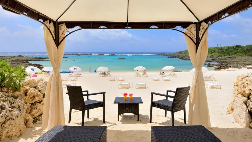 【シギラビーチ(リゾート内)】ビーチでゆっくりと宮古島を感じる時間を