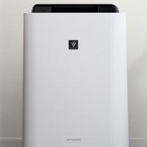 加湿機能付空気清浄機を全室完備