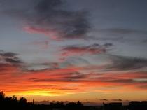 屋上より日没