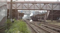 SL高田駅停車時を撮影
