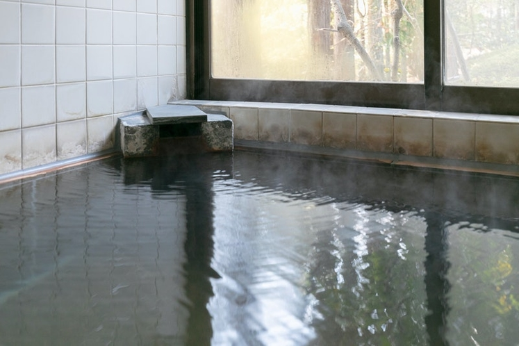 100% pure hot spring continuously flow from the...