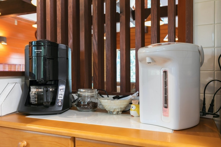 Coffee machine is available.
