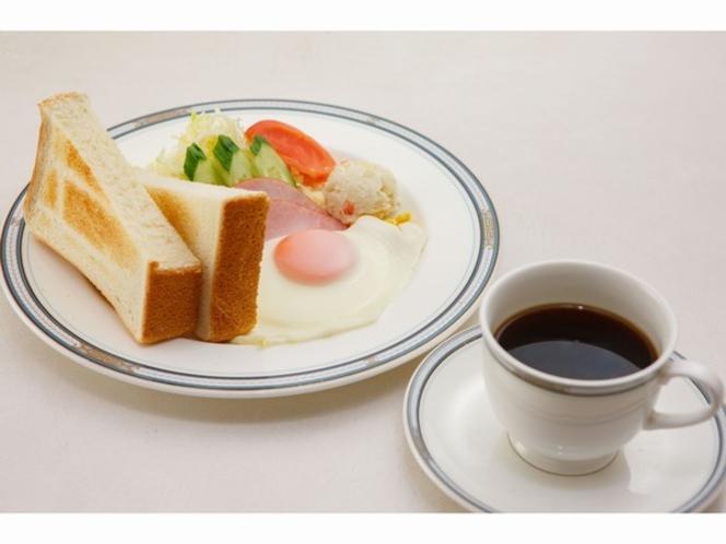 ご朝食(ふんわりトーストとコーヒーがセットになった洋食セット)