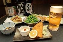 新潟の地酒とお酒にピッタリあったおつまみを多くご用意しております。