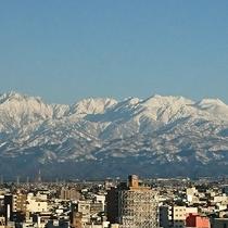 客室からの眺め(立山連峰側)