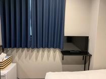 防煙対応カーテン付窓
