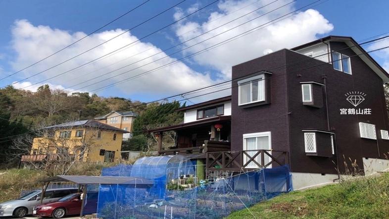 山に囲まれ太平洋を眺められる原木ログハウス 檜露天風呂付 有/民泊【Vacation STAY提供】