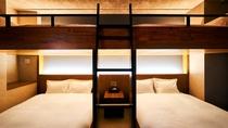 ・最上階スイート/バンクベッドタイプの寝室