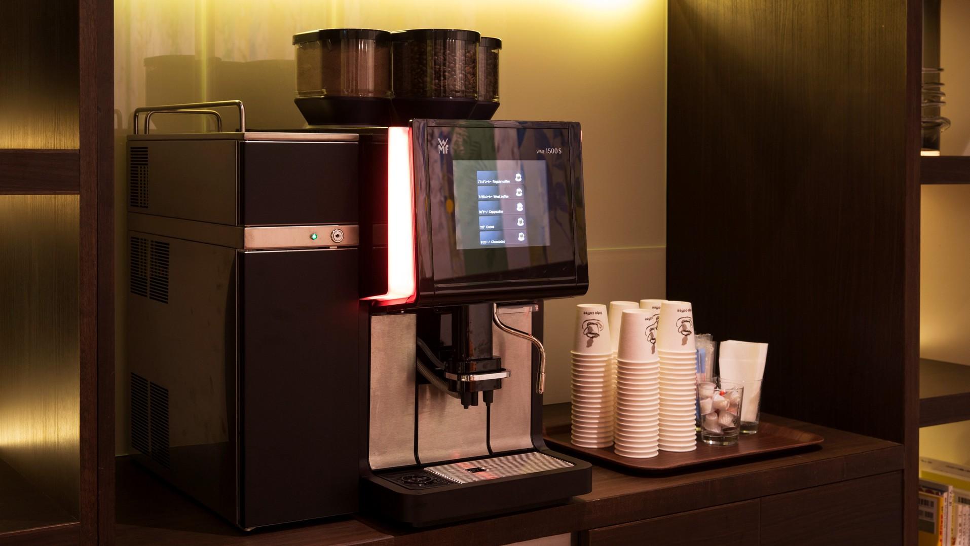 ご宿泊のお客様はコーヒーマシンを無料でご利用いただけます