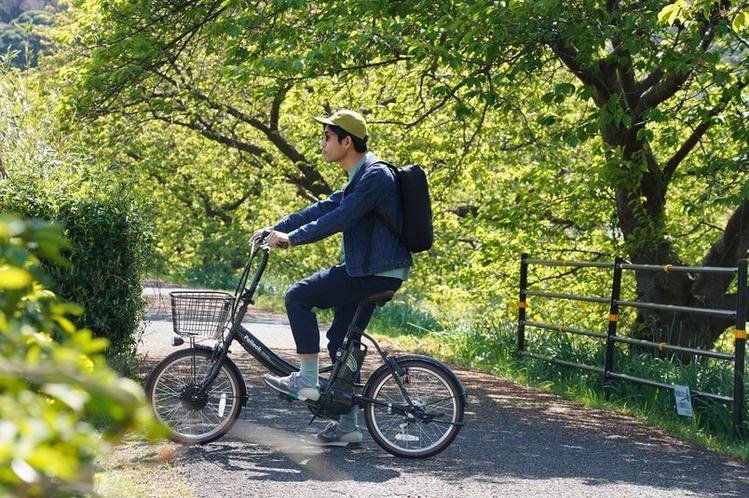 電動自転車でまちを散策(有料)
