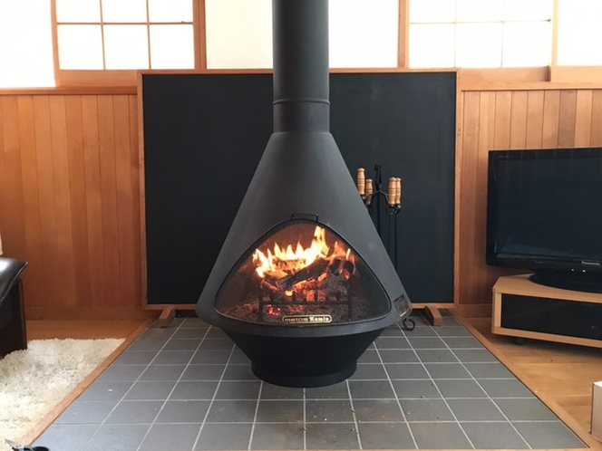冬は暖炉の火をみて…