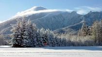 【パノラマ】日本百名山にも選定されている八幡平の山は雪をかぶってもなお、その雄大な美しさを見せます