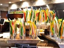 【夕食ブッフェ】野菜スティック(一例)