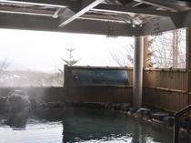 【露天風呂】八幡平の山並みを眺めながら心まで温まってください
