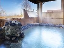 【大浴場】大自然の中で過ごした後は、癒し効果抜群の名湯へ。